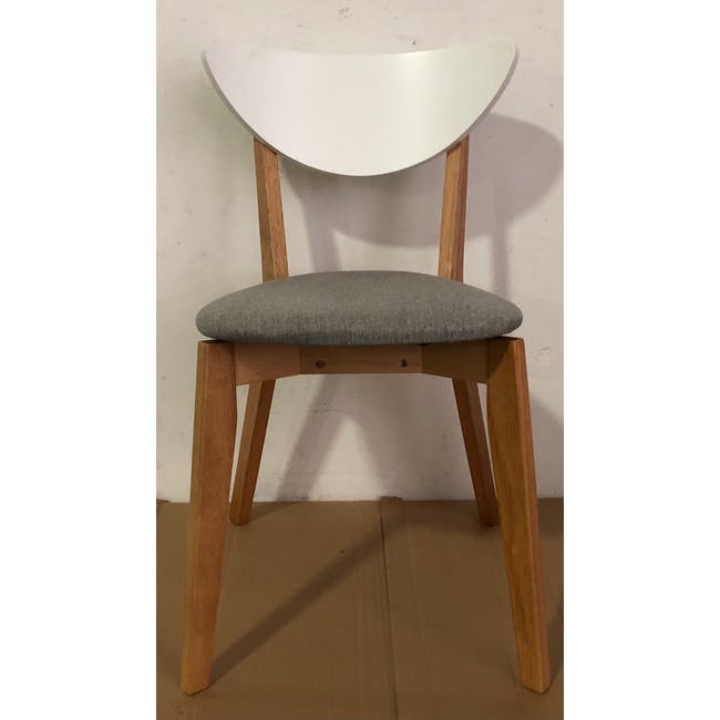 (As-is) Harold Dining Chair - Natural, Dolphin Grey - 1 - 3