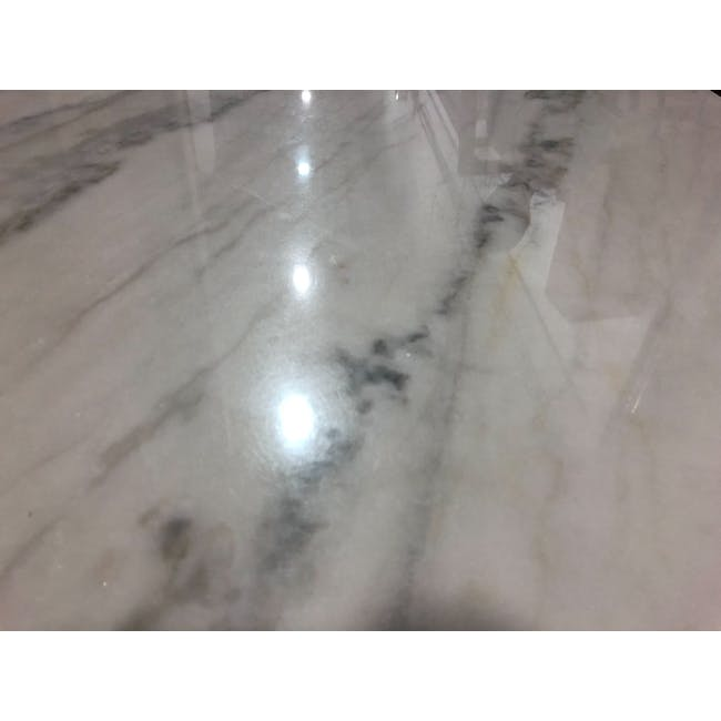 (As-is) Hagen Marble Dining Table 1.8m - 4 - 17