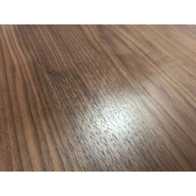 (As-is) Werner Extendable Oval Dining Table 1.5m - Walnut - 4 - 5