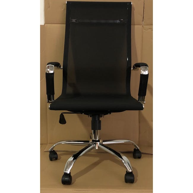 (As-is) Eames High Back Mesh Office Chair Replica - Black - 1 - 1