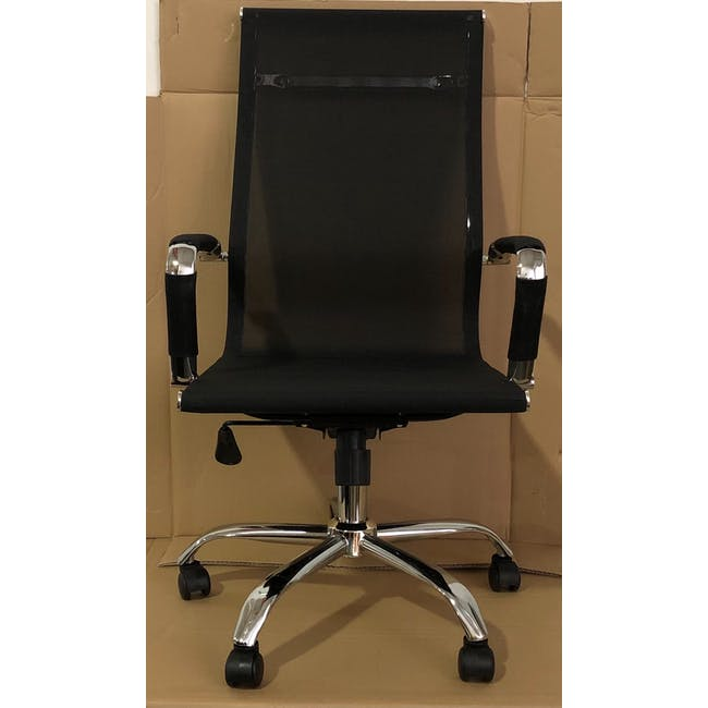 (As-is) Eames High Back Mesh Office Chair Replica - Black - 1 - 2