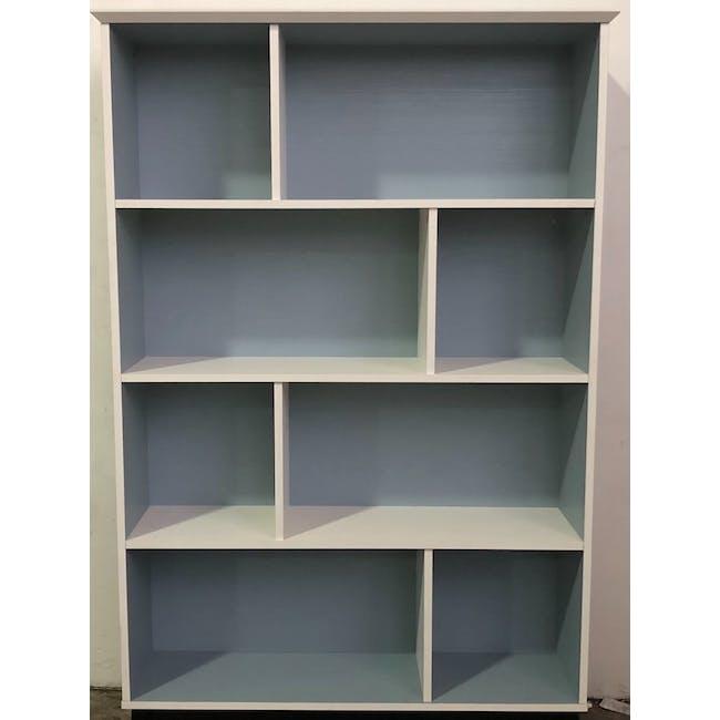 (As-is) Howard Bookshelf - Light Blue, White - 1 - 2