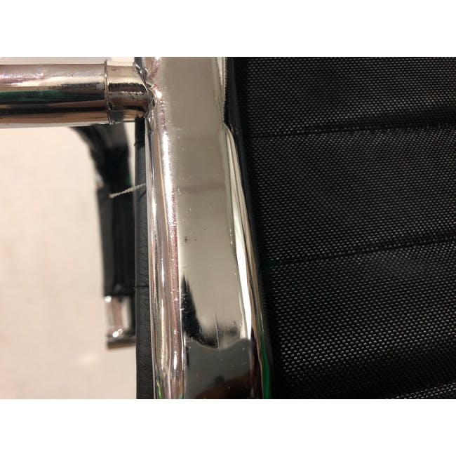 (As-is) Eames Mid Back Office Chair - Black (PU) - 12 - 14