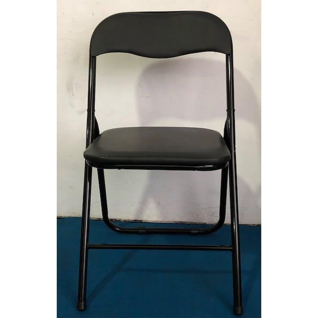 (As-is) Meko Folding Chair - Black - 1 - 1