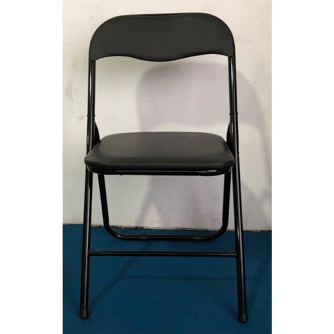 (As-is) Meko Folding Chair - Black - 1 - 3