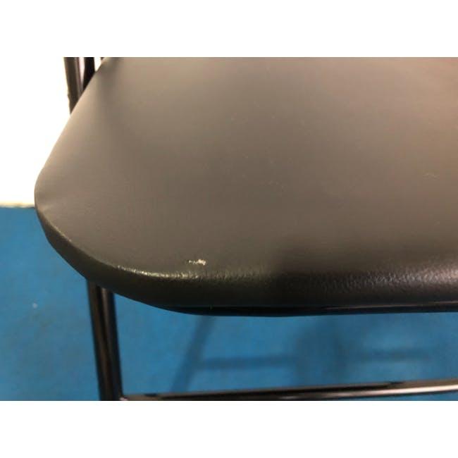 (As-is) Meko Folding Chair - Black - 1 - 4