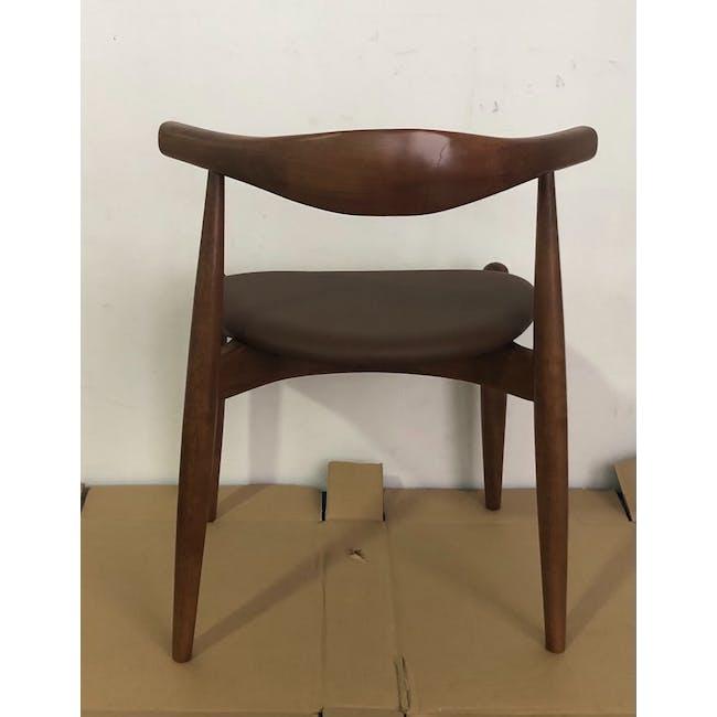 (As-is) Bouvier Dining Chair - Walnut, Mocha - 1 - 3