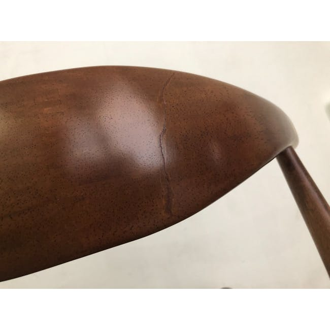 (As-is) Bouvier Dining Chair - Walnut, Mocha - 1 - 10