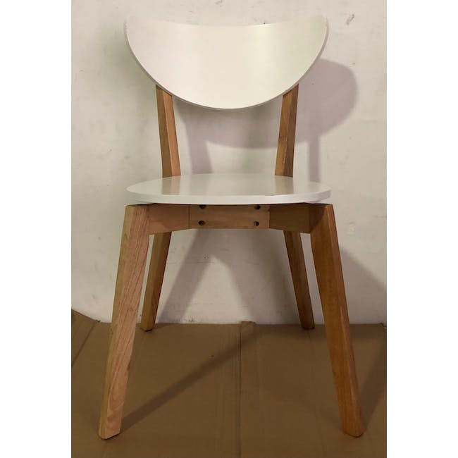 (As-is) Harold Dining Chair - Natural, White - 24 - 3