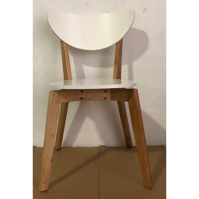 (As-is) Harold Dining Chair - Natural, White - 25 - 1
