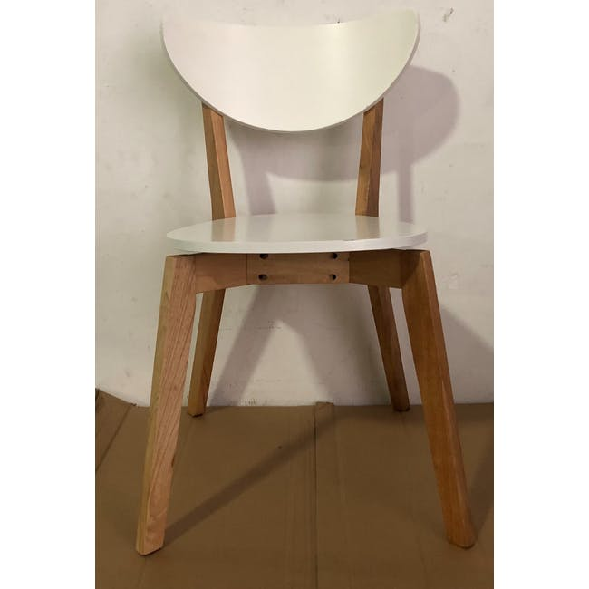 (As-is) Harold Dining Chair - Natural, White - 25 - 3