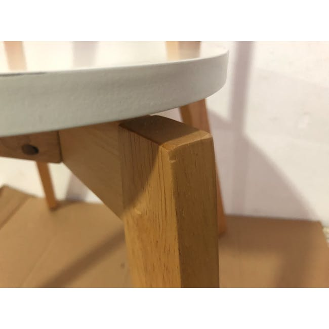(As-is) Harold Dining Chair - Natural, White - 25 - 17