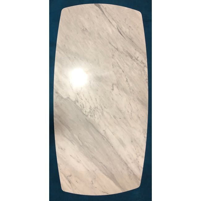 (As-is) Carson Marble Dining Table 2m - 1