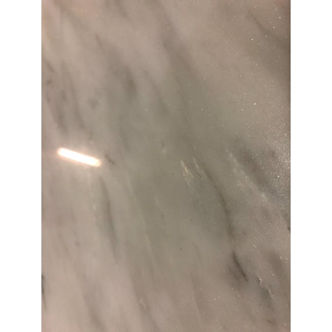 (As-is) Carson Marble Dining Table 2m - 6