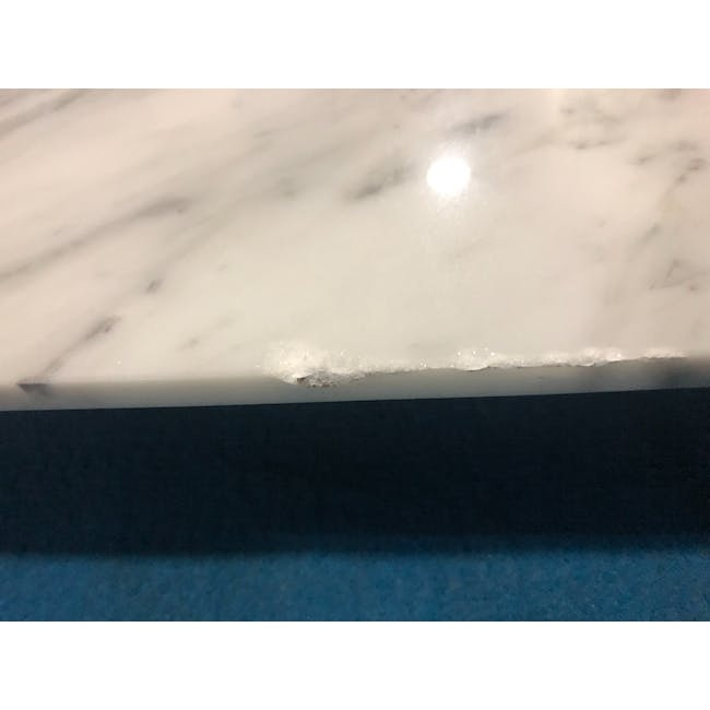 (As-is) Carson Marble Dining Table 2m - 11