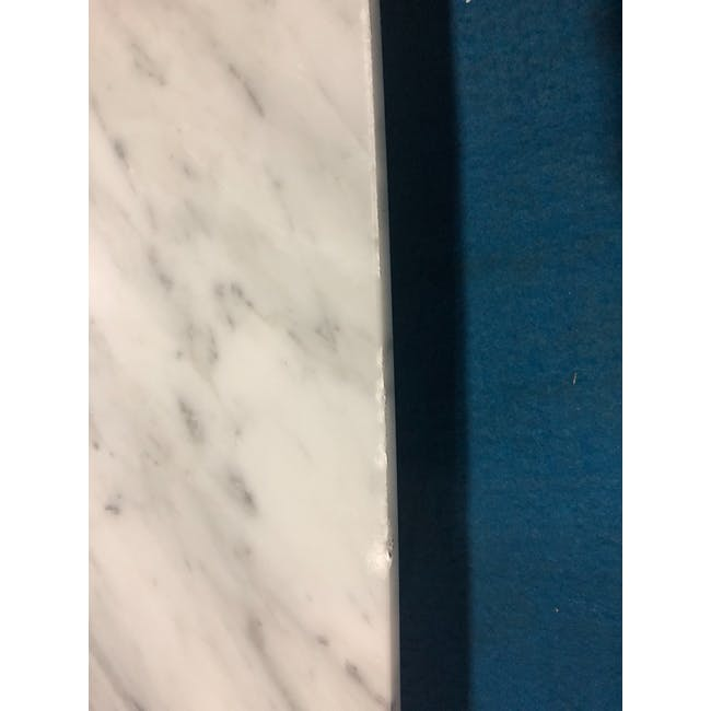 (As-is) Carson Marble Dining Table 2m - 12