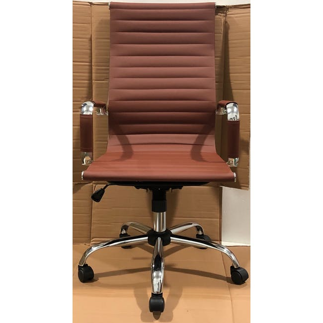 (As-is) Eames High Back Office Chair - Tan (PU) - 6 - 1