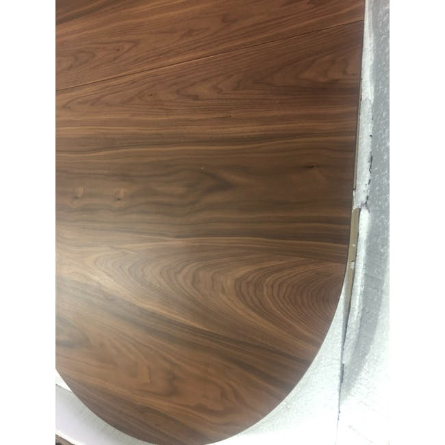(As-is) Werner Extendable Oval Dining Table 1.5m - Walnut - 3 - 1