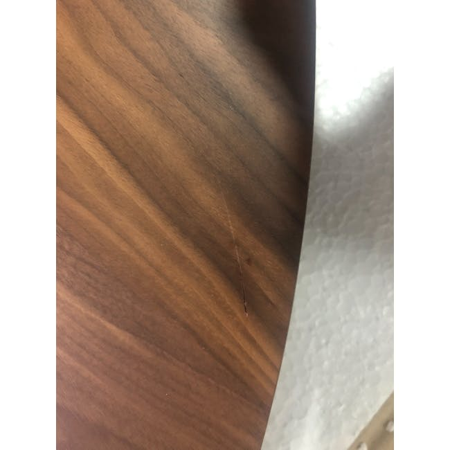 (As-is) Werner Extendable Oval Dining Table 1.5m - Walnut - 3 - 4